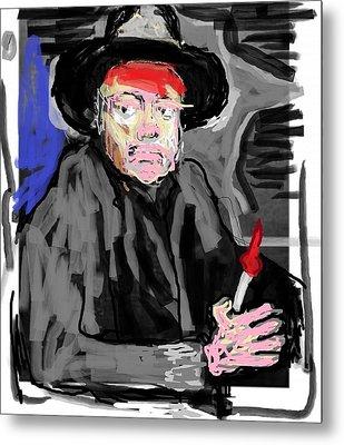 Diego R Painting Himself Metal Print by Jay Manne-Crusoe