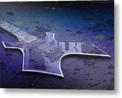 Digital-art E-guitar I Metal Print by Melanie Viola
