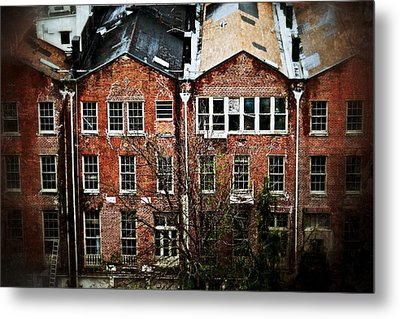 Dilapidated Building On Poydras Street Metal Print by Jim Albritton