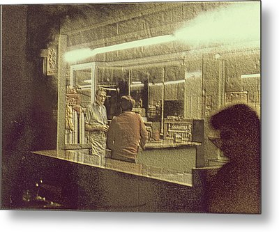 Diner Homage To Hooper Metal Print