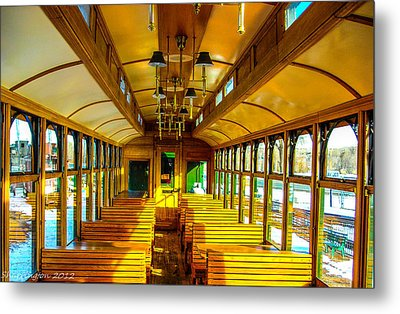 Metal Print featuring the photograph Dining Car by Shannon Harrington