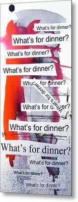 Dinner Metal Print by Linda Woods