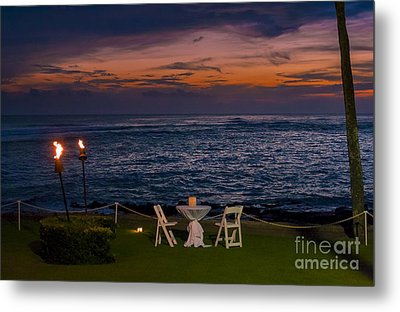 Dinner Setting In Paradise Metal Print by Darcy Michaelchuk
