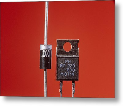 Diodes Metal Print by Andrew Lambert Photography