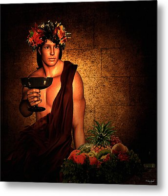 Dionysus Metal Print by Lourry Legarde
