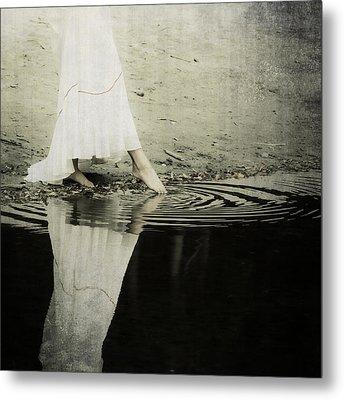 Dipping The Foot Metal Print by Joana Kruse