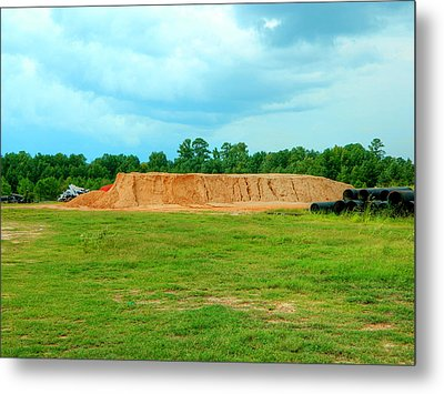 Dirt Hill  Metal Print by Ester  Rogers