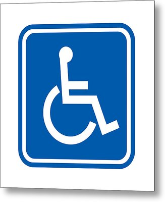 Disability Sign, Computer Artwork Metal Print by