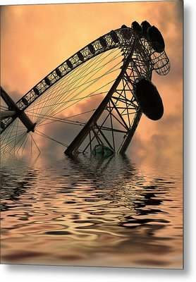 Disaster Metal Print by Sharon Lisa Clarke