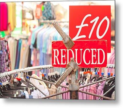Discount Clothing Metal Print by Tom Gowanlock