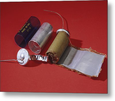 Dismantled Capacitor Metal Print by Andrew Lambert Photography