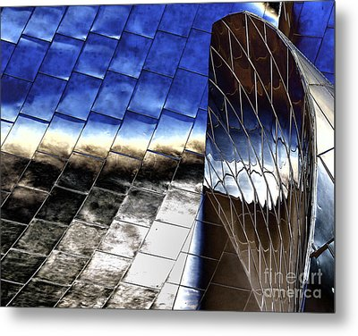 Disney Hall Architectural Metal Print by Chuck Kuhn