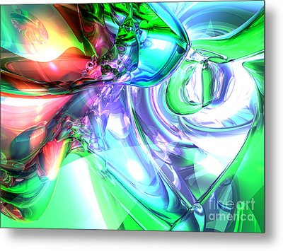 Disorderly Color Abstract Metal Print by Alexander Butler