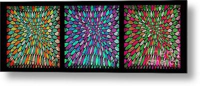 Disperse Color Tones Metal Print by Ankeeta Bansal