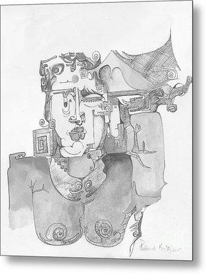 Distortion 3 Metal Print by Padamvir Singh