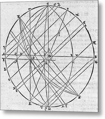 Distortion Of The Sun, 17th Century Metal Print by Middle Temple Library