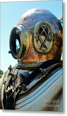 Dive Helmet Metal Print by Rene Triay Photography