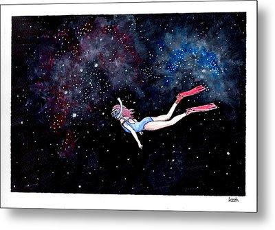 Diving Through Nebulae Metal Print by Katchakul Kaewkate
