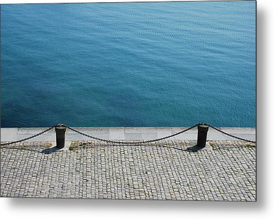 Dock Chain By Pavement Metal Print by Photography by Kévin Niglaut