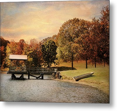 Dock For Two Metal Print by Jai Johnson