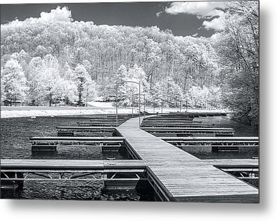 Metal Print featuring the photograph Dock In Infrared by Mary Almond