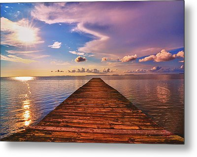 Dock Of The Bay Metal Print by Kelly Reber