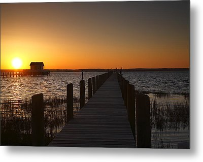 Dock On The Bay Metal Print by Steven Ainsworth
