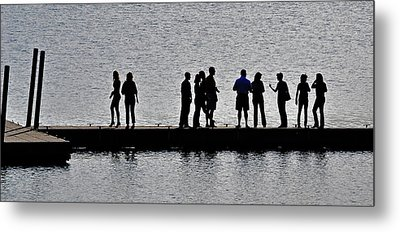 Dock Party Metal Print by Lisa Plymell