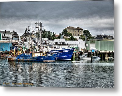 Docked For The Storms Metal Print by Dan Crosby