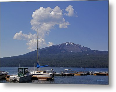 Metal Print featuring the photograph Docks At Diamond Lake by Mick Anderson