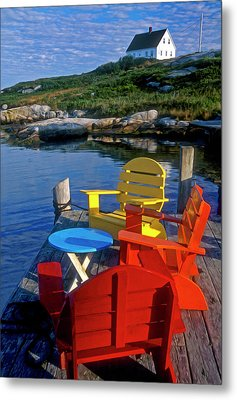 Dockside At Peggys Cove Metal Print by Dave Mills