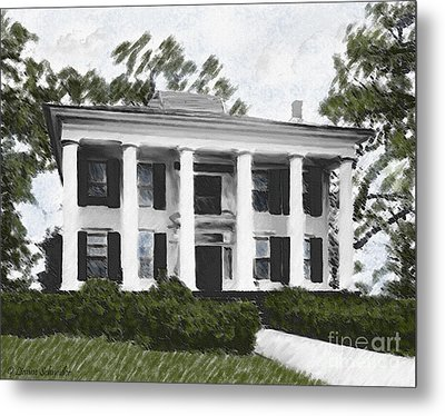 Dodd House Georgia Plantation Metal Print by Lianne Schneider