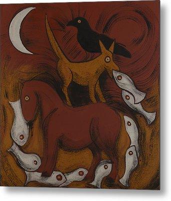 Dog Dream Metal Print by Sophy White