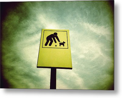 Dog Fouling Sign Metal Print by Kevin Curtis