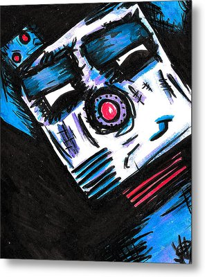 Doggy Bot Metal Print by Jera Sky