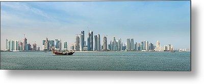 Doha Skyline Feb 2012 Metal Print by Paul Cowan