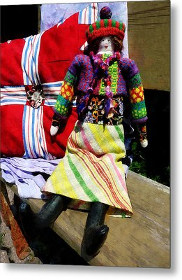 Doll In Colorful Outfit Metal Print
