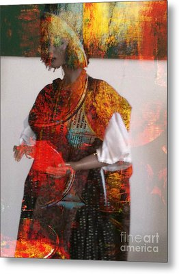 Doll In Paint Metal Print by Fania Simon