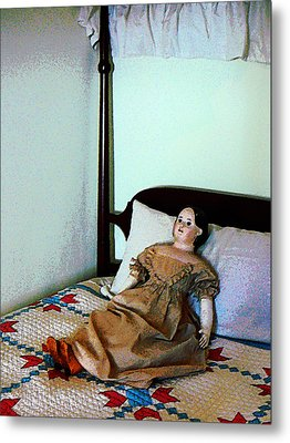 Doll On Four Poster Bed Metal Print by Susan Savad