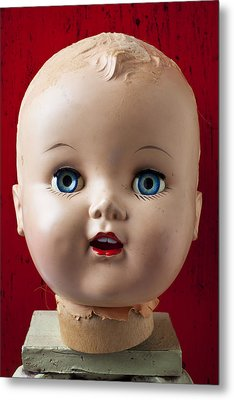Dolls Haed Metal Print by Garry Gay