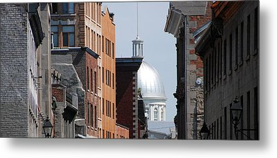 Metal Print featuring the photograph Dome Bonsecours Market by John Schneider