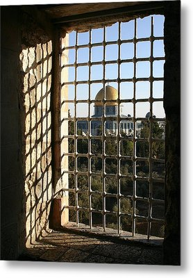 Dome Of The Rock Metal Print by Tia Anderson-Esguerra