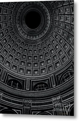 Metal Print featuring the photograph Dome. Vatican. Black by Tanya  Searcy