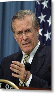 Donald H. Rumsfeld Secretary Of Defense Metal Print by Everett