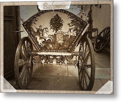 Donkey Cart Metal Print by Cliff Norton