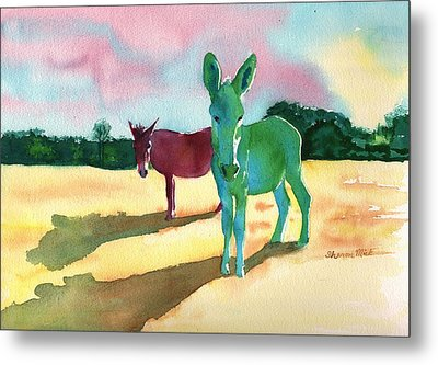 Donkeys With An Attitude Metal Print