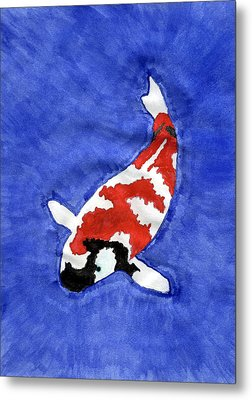 Don't Be Koi Metal Print