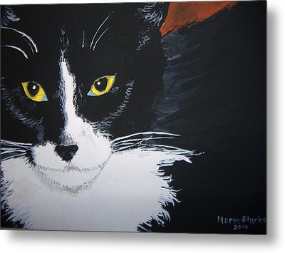 Metal Print featuring the painting Don't Bug Me by Norm Starks