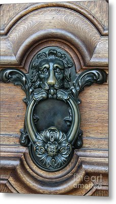 Doorknocker Lionshead Metal Print by Christiane Schulze Art And Photography