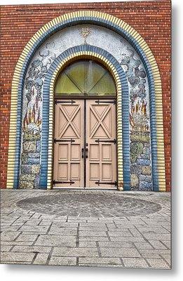 Doors Of Faith  Metal Print by Jerry Cordeiro